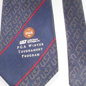 PGA Winter tournament program UST golf neck tie